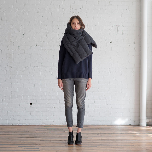 M. Patmos Quilted Pampas Scarf - SOLD OUT
