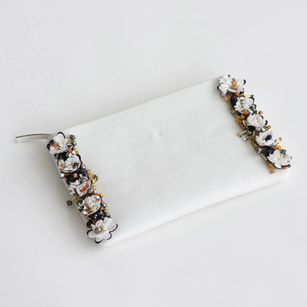Megan Park Umbra Clutch White