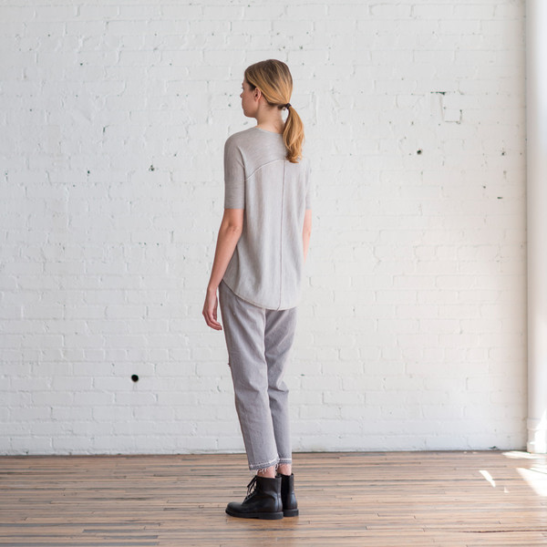 Paychi Guh Boxy Tee Light Heather Grey - SOLD OUT