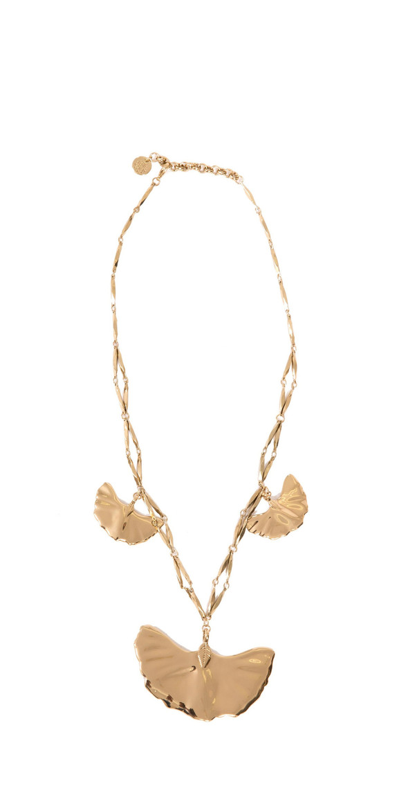 Hoss Intropia Leaves Metal Necklace