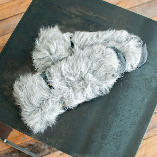 Rachel Comey Fur Mittens Silver - SOLD OUT
