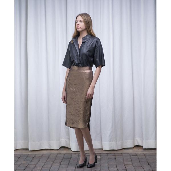 Schai Uti Midi Skirt Copper - SOLD OUT