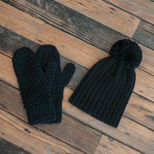 Ulla Johnson Pom Pom Hat Black - SOLD OUT