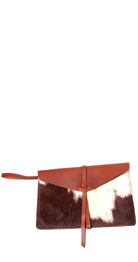 Minnie + George Calf Hair Envelope Clutch