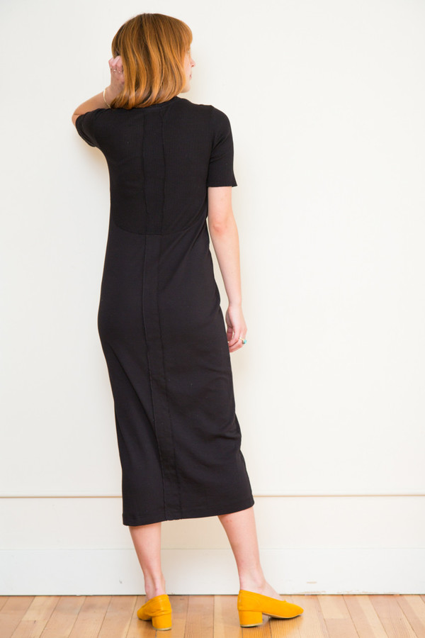 Stateside Slub Rib Midi Dress