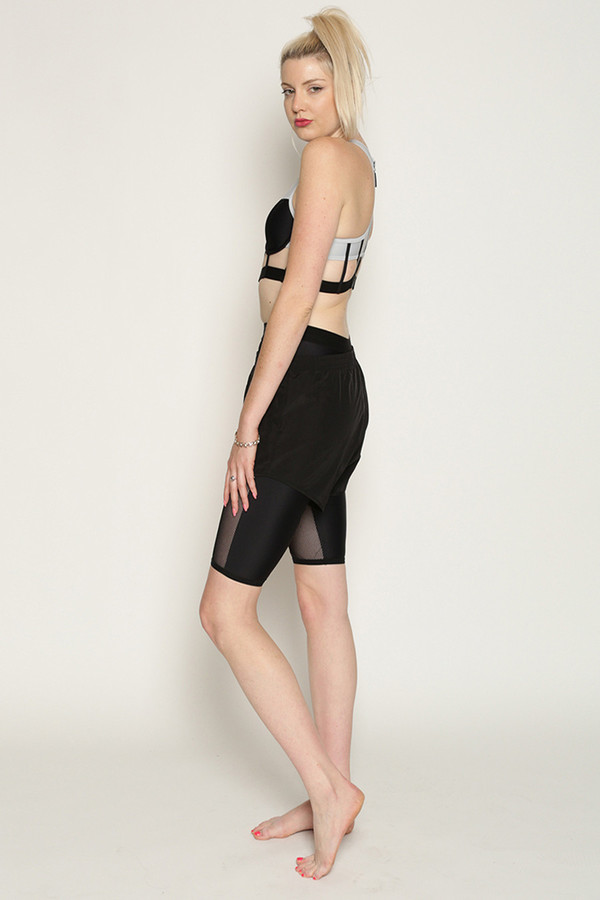 Chromat Dual Mesh Shorts in Black