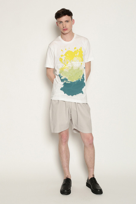 Men's Kenneth Ning Spice Stencil Printed T-Shirt in White