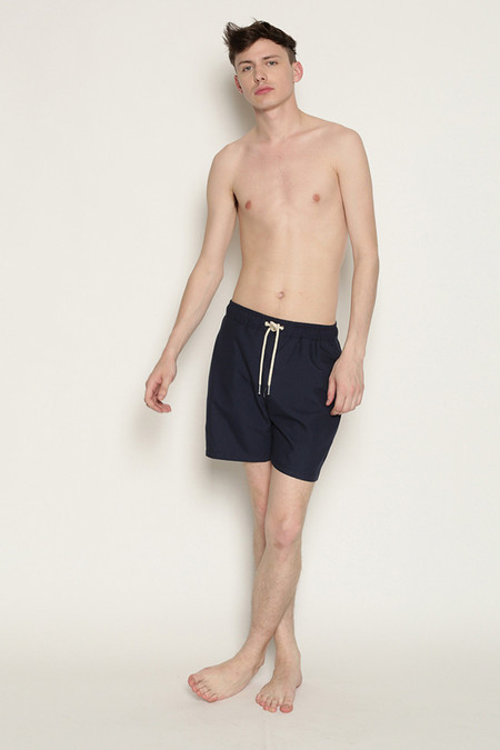 Men's Soulland William Swim Shorts in Navy