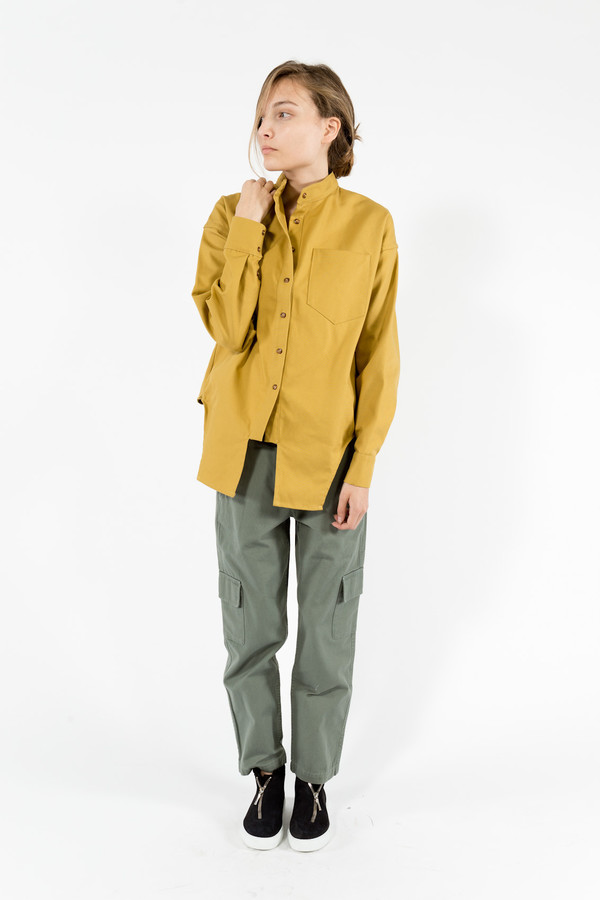 Eckhaus Latta Canvas Button Down