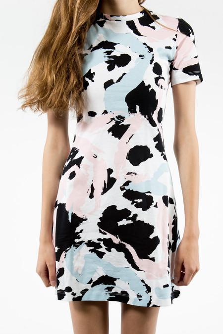 être cécile Cow Stroke A-Line Mini Dress