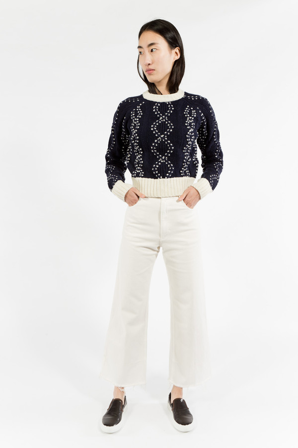 You Must Create Cropped Cable Knit