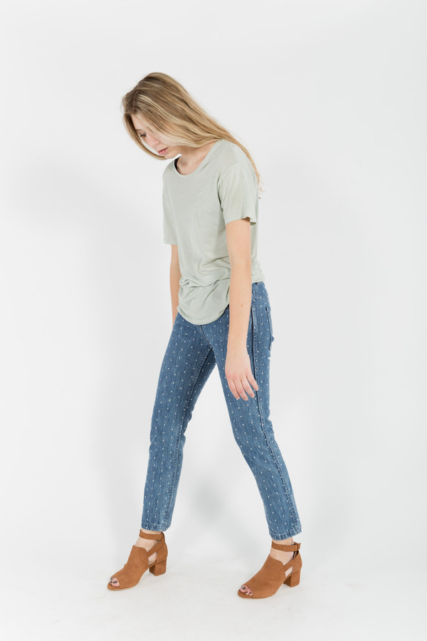 You Must Create Dotted Denim Boyfriend Jeans
