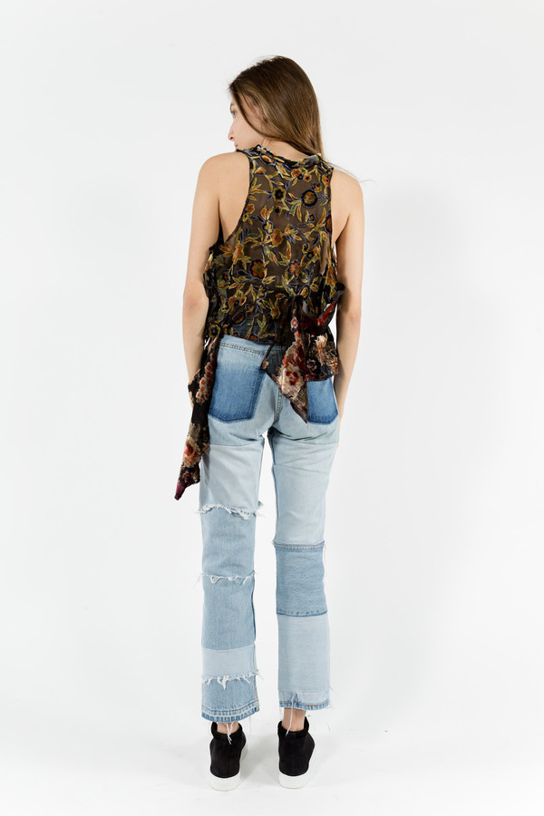Eckhaus Latta Floral Burnout Blouse