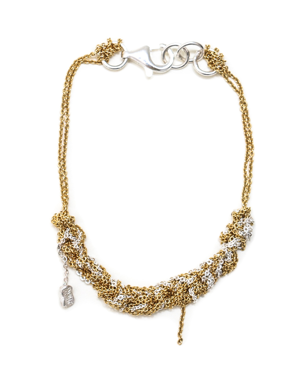 Arielle de Pinto Bare Chain Bracelet in Gold and Silver