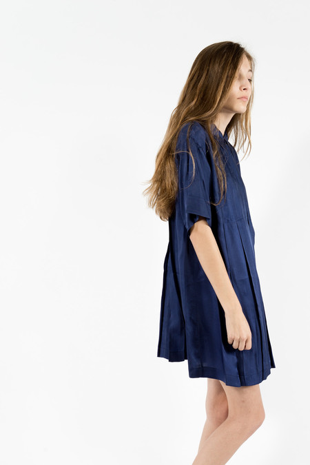 Maison Kitsune Sara Cupro Pleated Dress