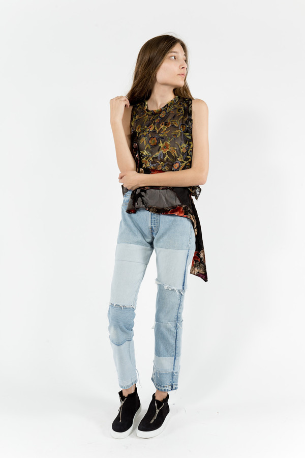 Maryam Nassir Zadeh Sonia Deconstructed Denim