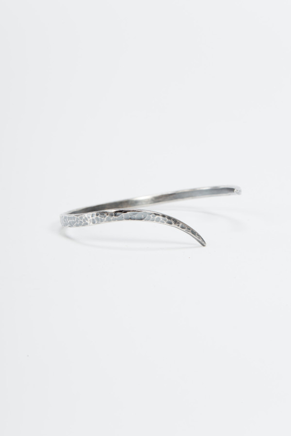 Knobbly Studio Tapered Cuff Oxidized Silver