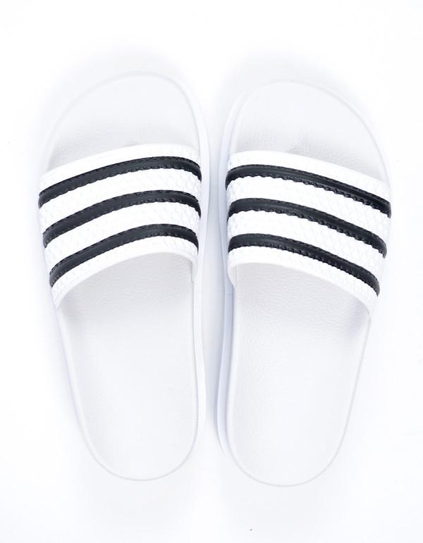 Adidas Adilette Bold White White Black