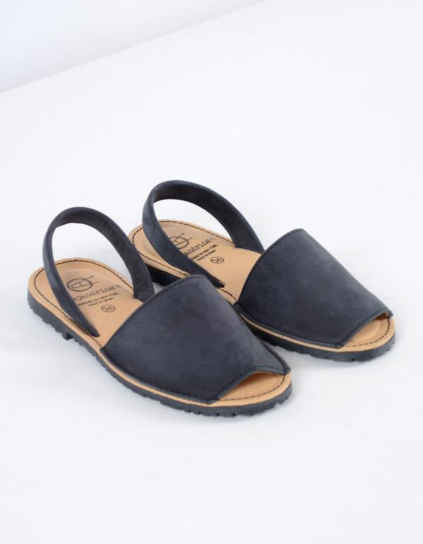 Alejandrina's Menorca Nubuck Shoe Black