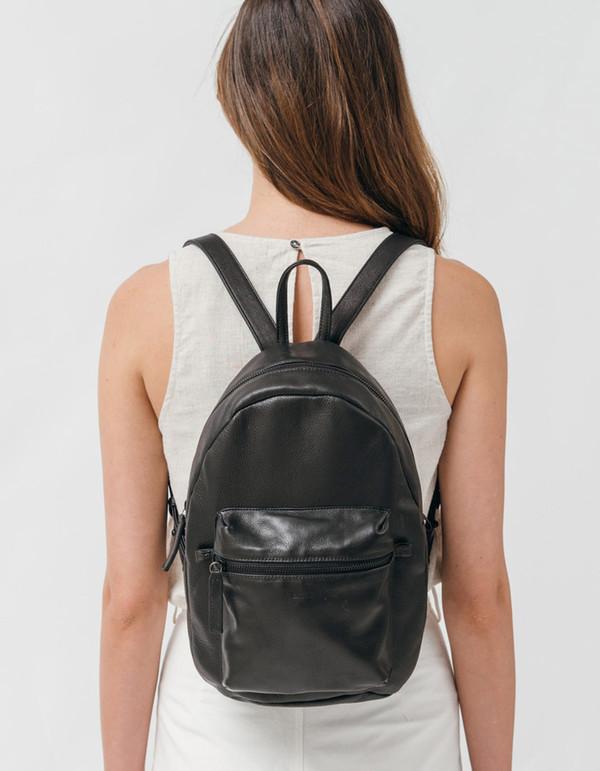 Baggu Leather Backpack Black