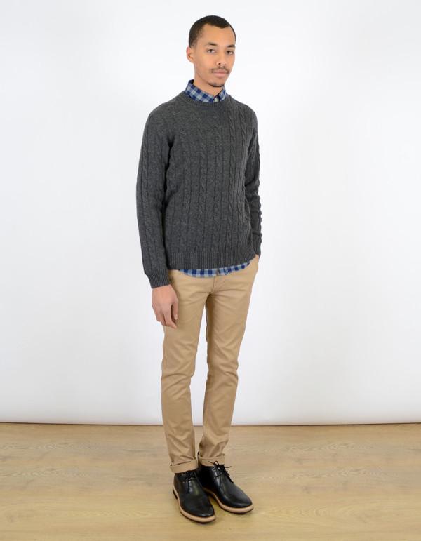 Ben Sherman Cable Crew Sweater Granite Marl