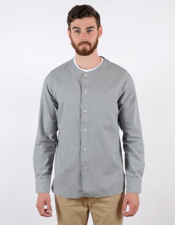 Filippa K Baseball Denim Shirt Light Grey Denim