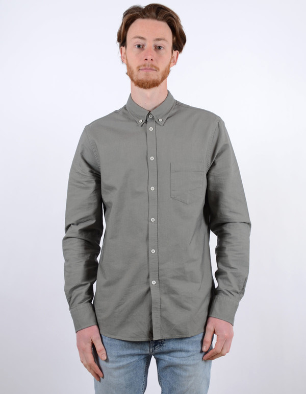 Filippa K Paul Oxford Shirt Dusty Green Dusty Laurel