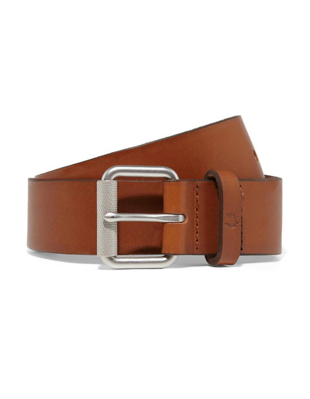 Fred Perry Burnished Leather Belt Tan