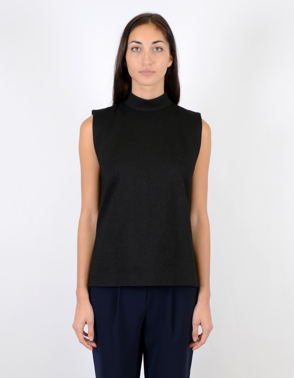 Ganni Crawford Top Black