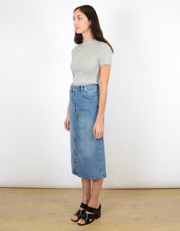 Just Female Pine Long Skirt Blue Wash