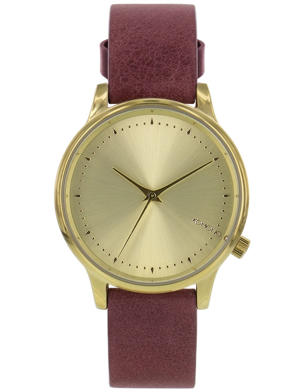 Komono Estelle Classic Watch Burgundy