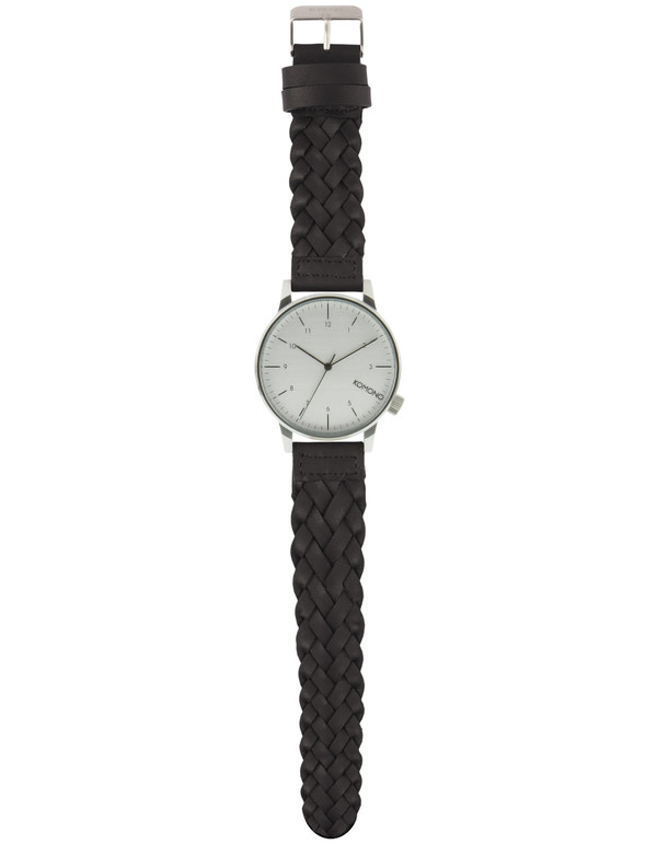 Komono Winston Woven Watch Black