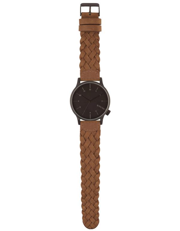 Komono Winston Woven Watch Chestnut