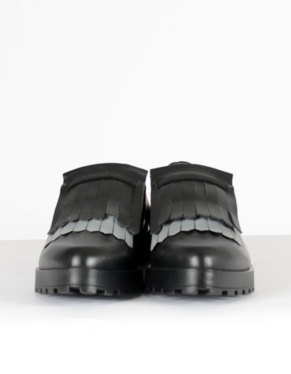 Miista Juliette Tasseled Loafer Black Reflect