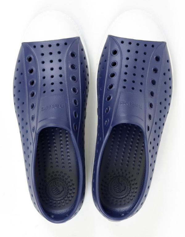 Native Shoes Native Jefferson Regatta Blue with Shell White