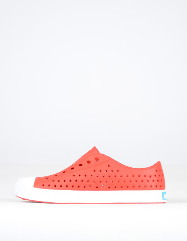 Native Shoes Native Jefferson Torch Red with Shell White
