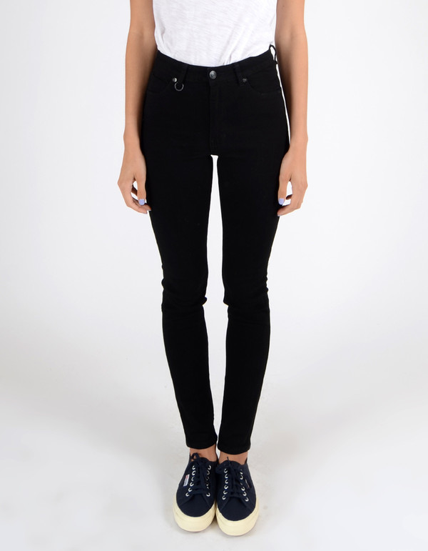 Neuw Marilyn High Rise Skinny Jean Black Raw