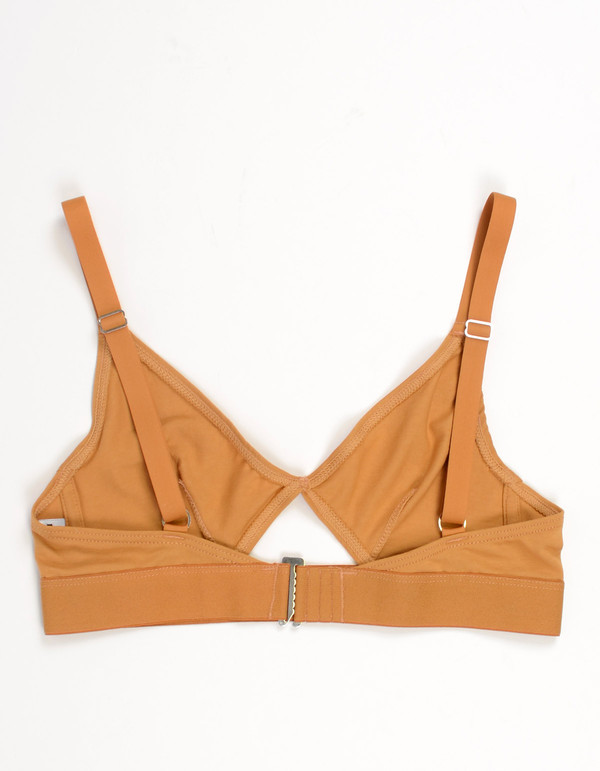 Nude Label Cut Out Bra Caramel