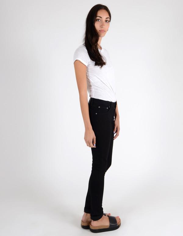 Nudie Skinny Lin Organic Black Black