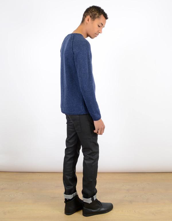 Men's Nudie Thin Finn Organic Back 2 Black