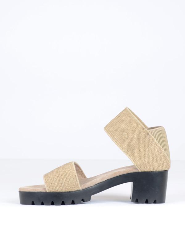 San Miguel Dual Strap Sandal Linen