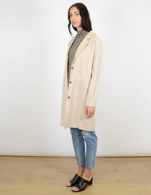 Selected Femme Tanja Coat Silver Cloud