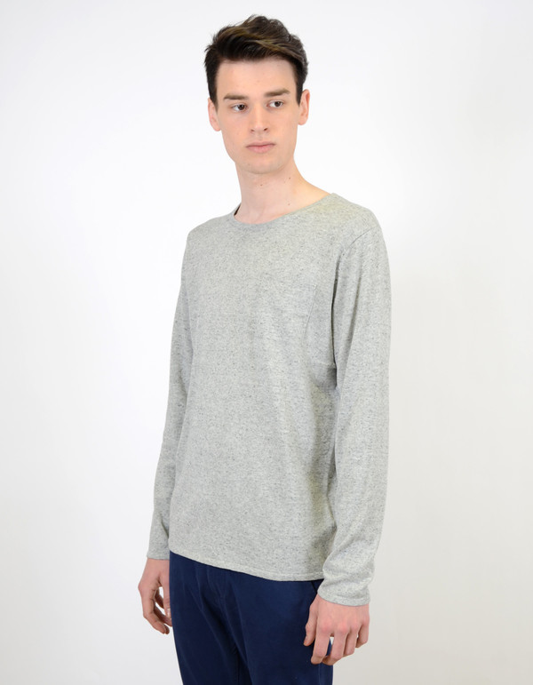 Men's Selected Homme Token Crew Neck Grey