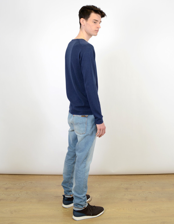 Men's Selected Homme Token Crew Neck Navy