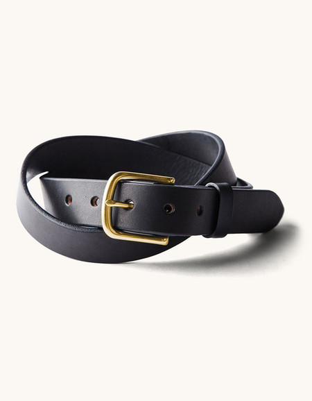 Men's Tanner Goods Classic Belt Black Brass