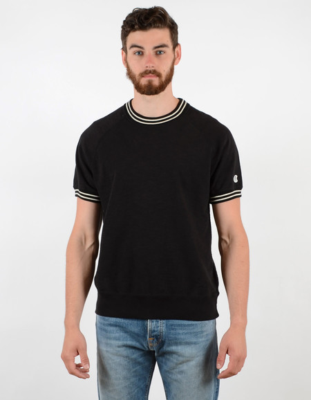 Men's Todd Snyder x Champion Short Sleeve Raglan Crew Black