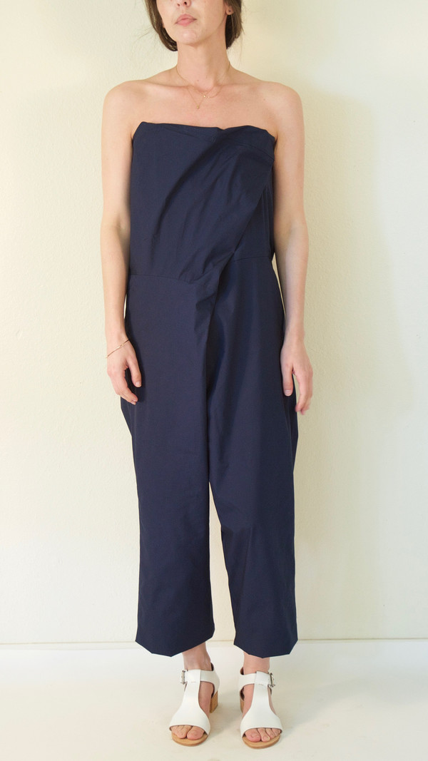 A Détacher Orinoco Jumpsuit in Navy Poplin