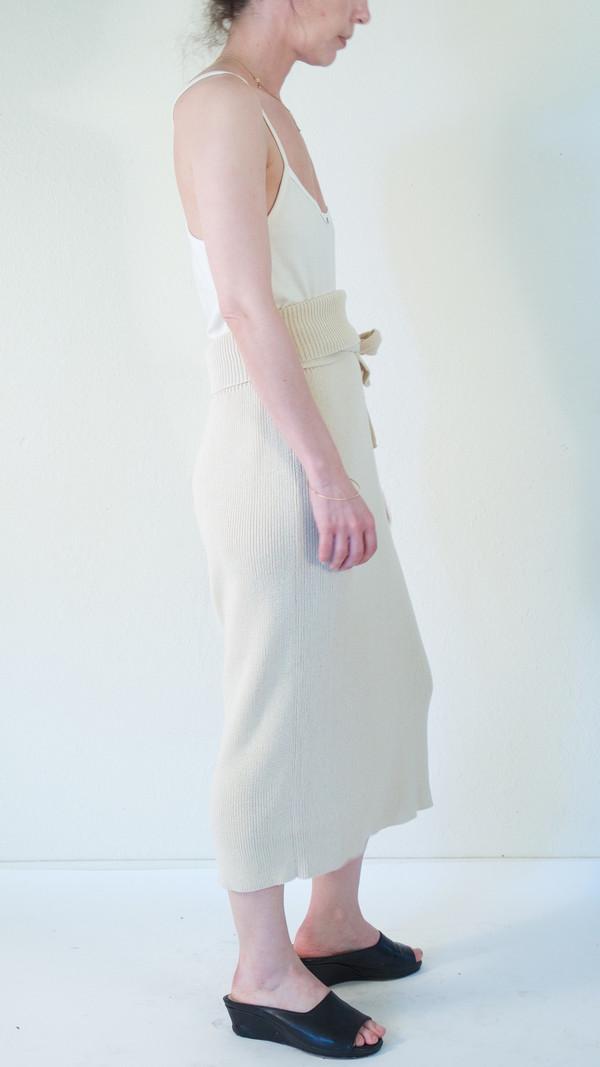 Lauren Manoogian Rib Skirt in Crudo