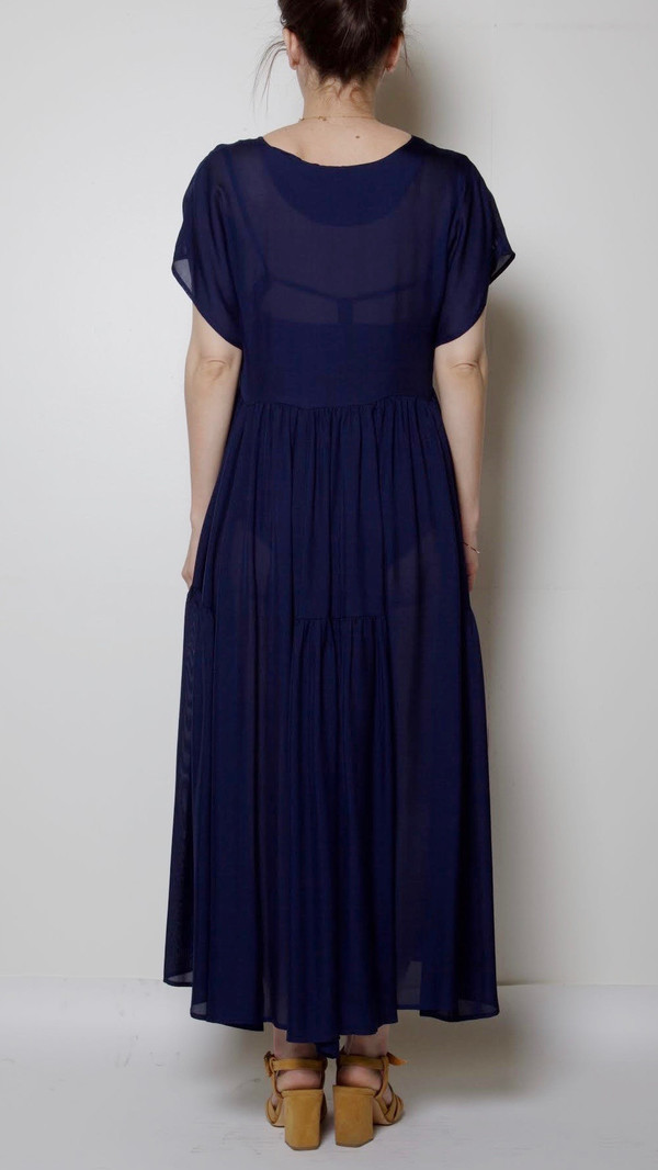 Maryam Nassir Zadeh Florenza Dress in Navy