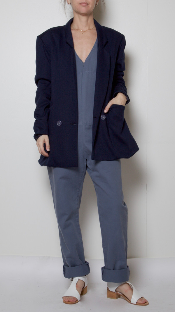 Suzanne Rae Tailored Blazer in Navy
